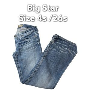 Big Star   Casey K Low Rise Flare Blue Blue Jeans